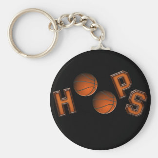 Basketball Hoops Basic Round Button Keychain