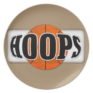 Basketball Hoops Melamine Plate