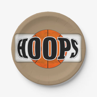 Basketball Hoops Paper Plate