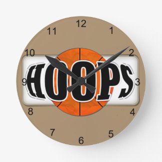Basketball Hoops Round Clock