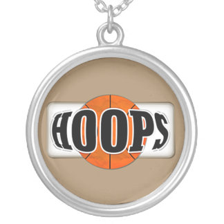 Basketball Hoops Silver Plated Necklace