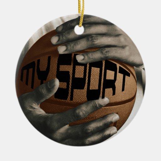 BASKETBALL HUG - MY SPORT - CHRISTMAS ORNAMENT