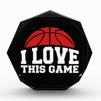 Basketball - i love this game acrylic award
