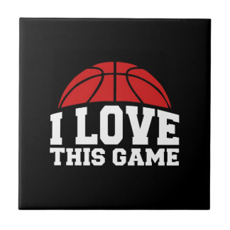 Basketball - i love this game ceramic tile