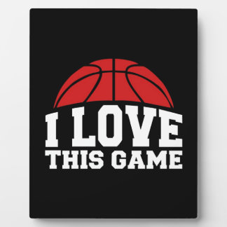 Basketball - i love this game display plaques
