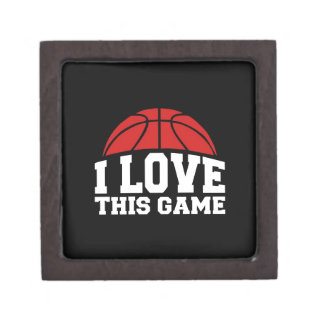 Basketball - i love this game jewelry box