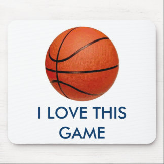 Basketball - I Love This Game Mouse Pad