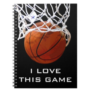 Basketball I Love This Game Notebook