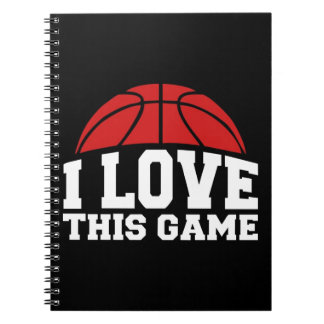 Basketball - i love this game spiral notebook