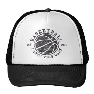 Basketball I love this game! Used Look Retro Trucker Hat
