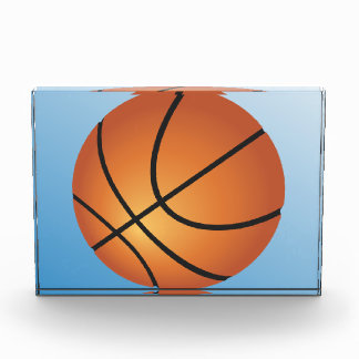 Basketball Icon Blue Background Acrylic Award