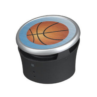 Basketball Icon Blue Background Bluetooth Speaker