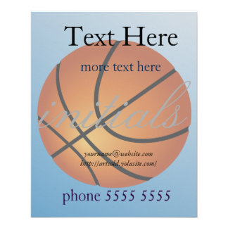 """Basketball Icon Blue Background 4.5"""" X 5.6"""" Flyer"""
