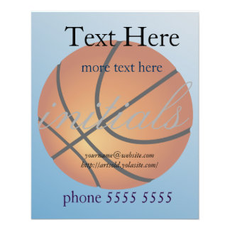Basketball Icon Blue Background Flyer
