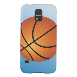 Basketball Icon Blue Background Galaxy S5 Case