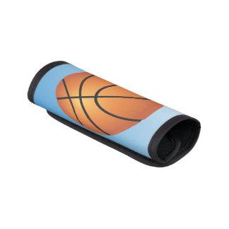 Basketball Icon Blue Background Luggage Handle Wrap