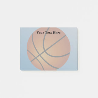Basketball Icon Blue Background Post-it Notes