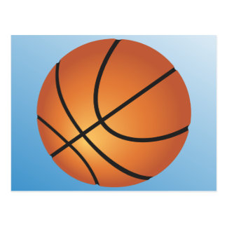 Basketball Icon Blue Background Postcard