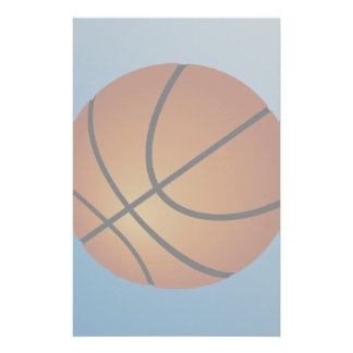 Basketball Icon Blue Background Stationery