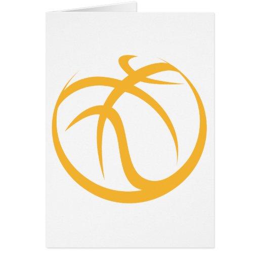 Basketball Icon Greeting Card