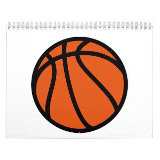 Basketball icon wall calendar