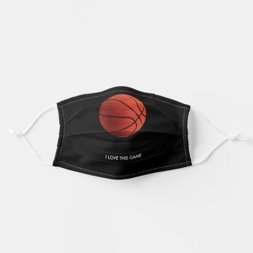Basketball Illustration Painting Art Sports Cloth Face Mask