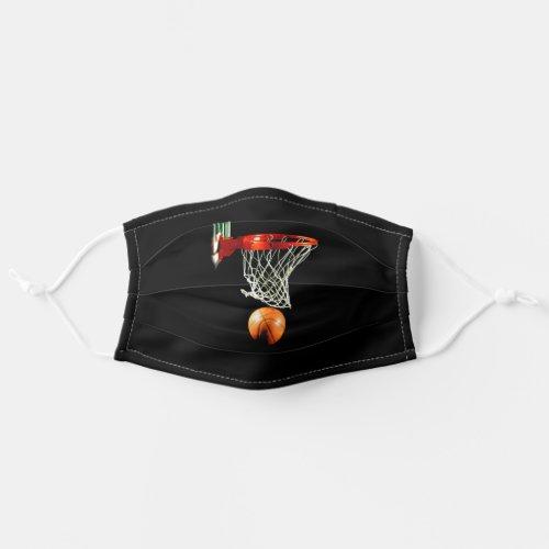 Basketball Illustration Painting Sports Art Cloth Face Mask