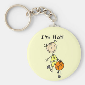 Basketball I'm Hot T-shirts and Gifts Keychain