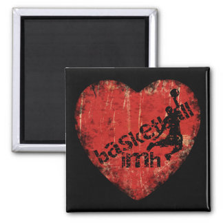 Basketball IMH� s7 2 Inch Square Magnet