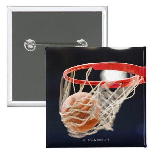 Basketball in basket. button