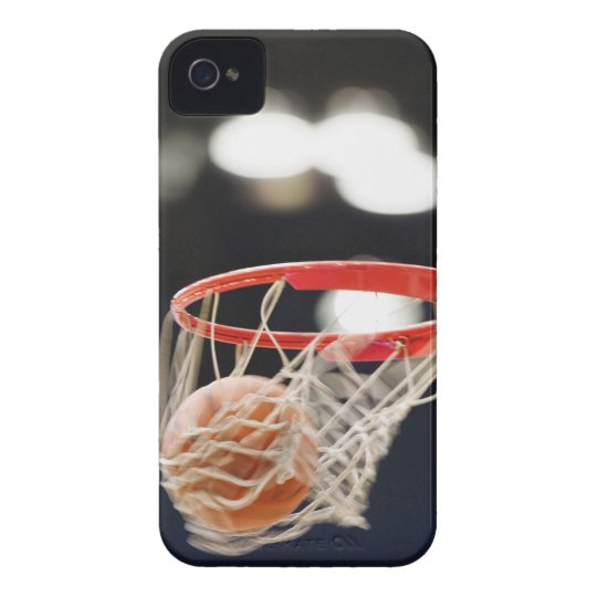 Basketball in basket. iPhone 4 Case-Mate case