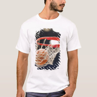 Basketball in basket. T-Shirt