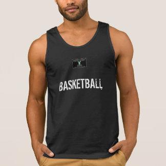 BASKETBALL in black Tank Top