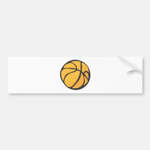 Basketball in Hand drawn Style Bumper Sticker