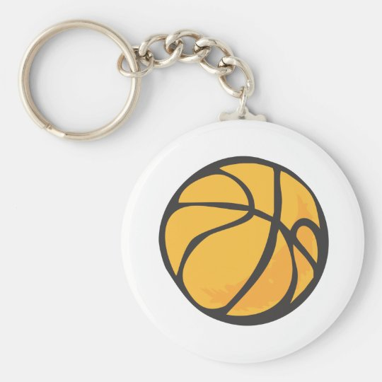 Basketball in Hand drawn Style Keychain