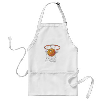 basketball in hoop apron