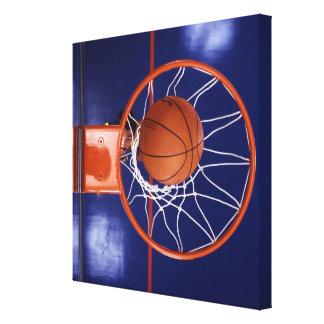 basketball in hoop canvas print