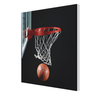 Basketball in Hoop Canvas Print