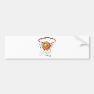 basketball in hoop car bumper sticker