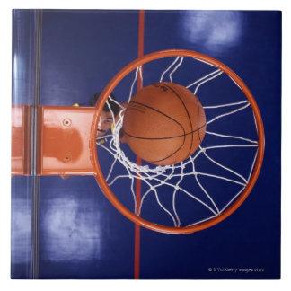 basketball in hoop ceramic tile