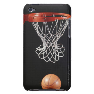 Basketball in hoop, close-up 2 barely there iPod cover
