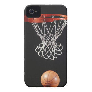Basketball in hoop, close-up 2 Case-Mate iPhone 4 case