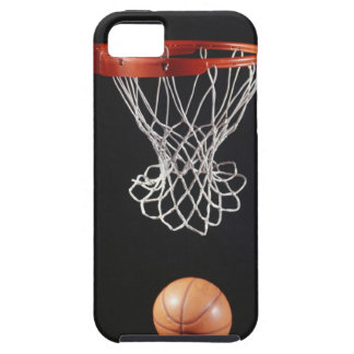 Basketball in hoop, close-up 2 iPhone SE/5/5s case