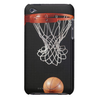 Basketball in hoop, close-up 2 iPod Case-Mate case