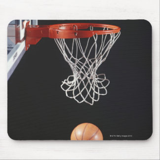 Basketball in hoop, close-up 2 mouse pad