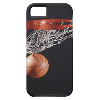 Basketball in hoop, close-up iPhone SE/5/5s case