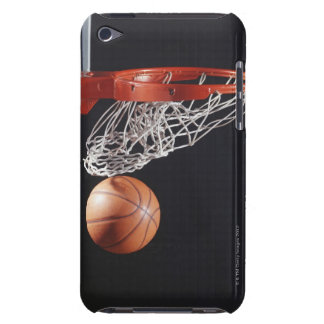 Basketball in hoop, close-up iPod touch cover