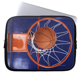 basketball in hoop computer sleeve