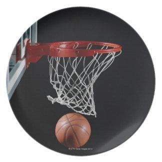 Basketball in Hoop Dinner Plate
