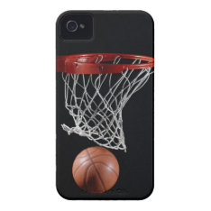 Basketball In Hoop Iphone 4 Case at Zazzle